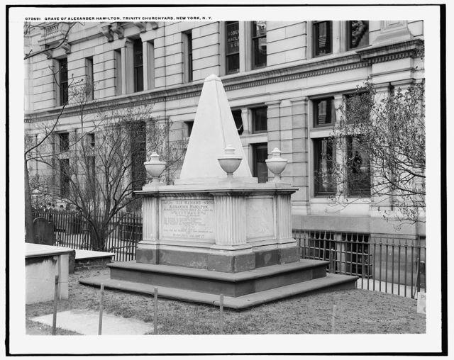 Grave of Alexander Hamilton, Trinity Churchyard, New York, N.Y.