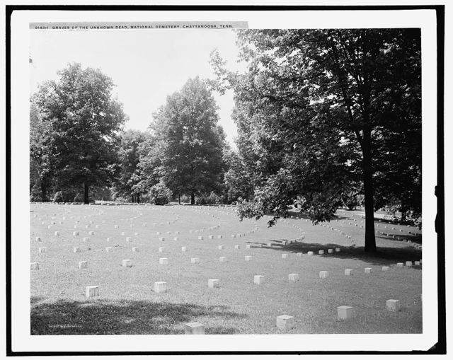 Graves of the unknown dead, National Cemetery, Chattanooga, Tenn.