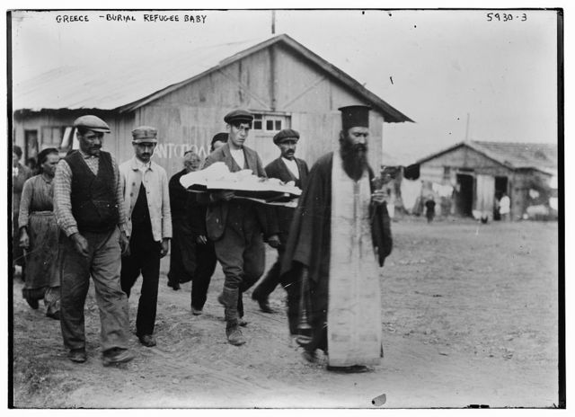 Greece - burial refugee baby
