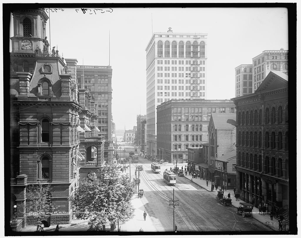 Griswold St., so[uth] from Michigan Ave., Detroit, Mich.