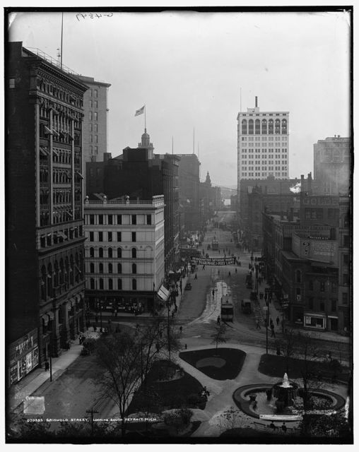Griswold Street, looking south, Detroit, Mich.