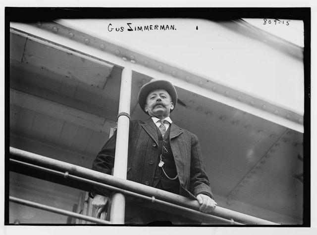 Gus Zimmerman, aboard a boat