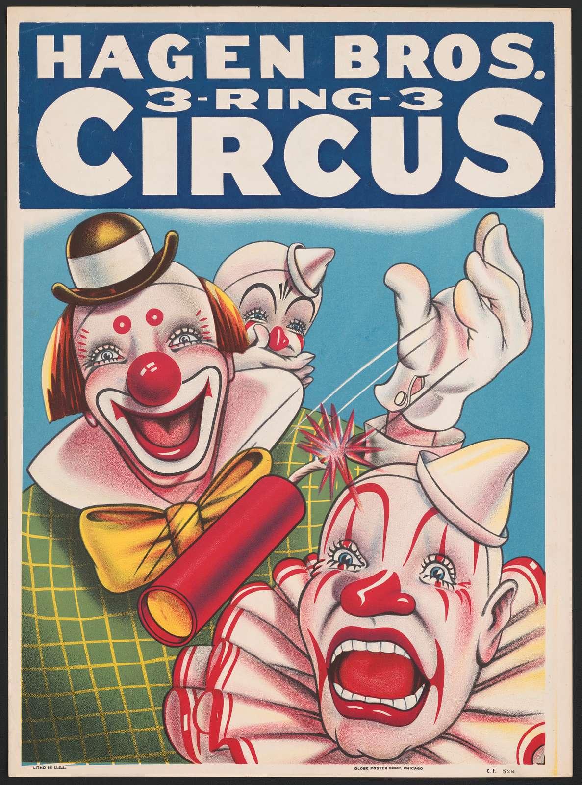 Hagen Bros. 3-ring-3 circus graphic