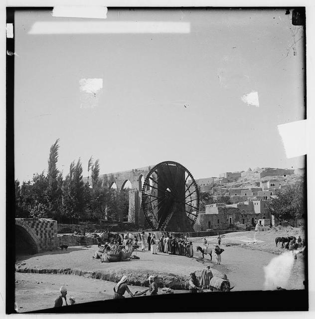 Hama (Hamath). Busy scene on the Orontes