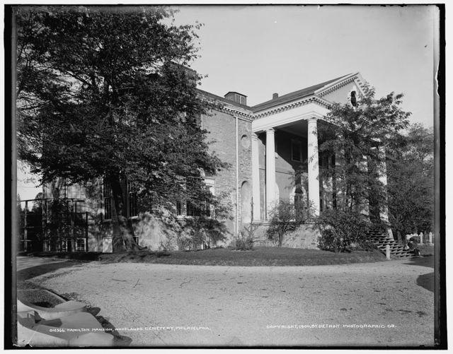Hamilton Mansion, Woodlands Cemetery, Philadelphia, Pa.