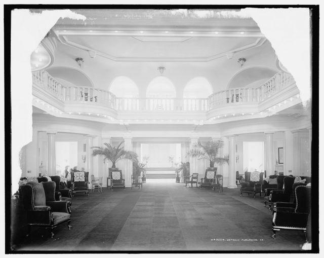 [Hampton Terrace Hotel, lobby, Augusta, Ga.]