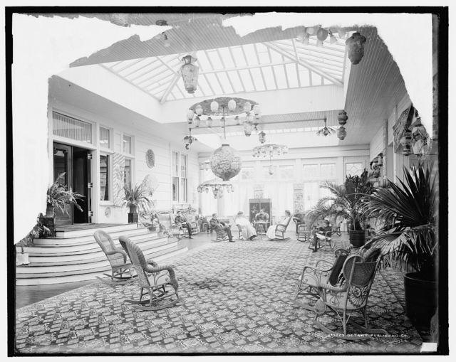 [Hampton Terrace Hotel, palm room, Augusta, Ga.]