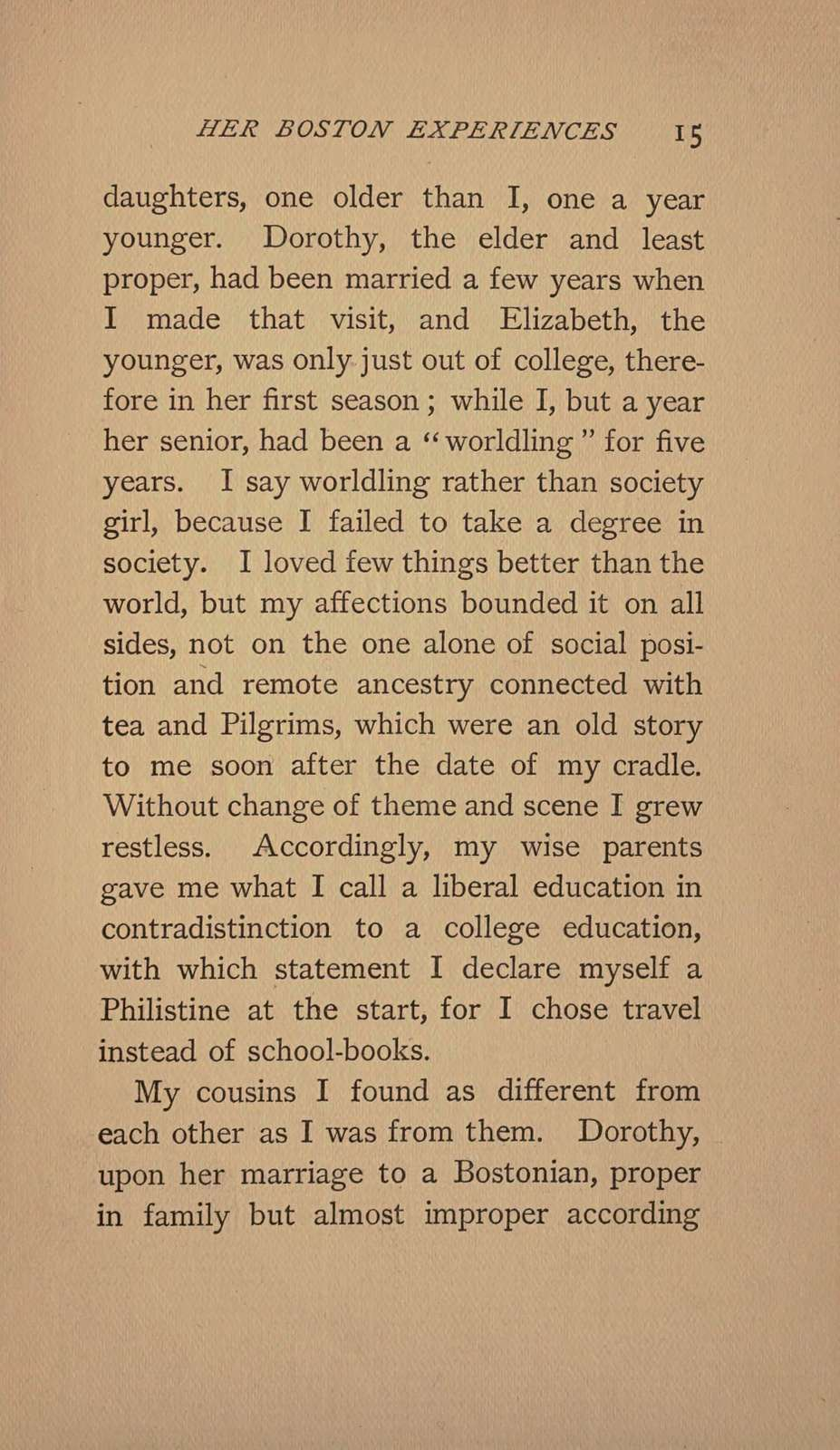 Her Boston experiences; a picture of modern Boston society and people,
