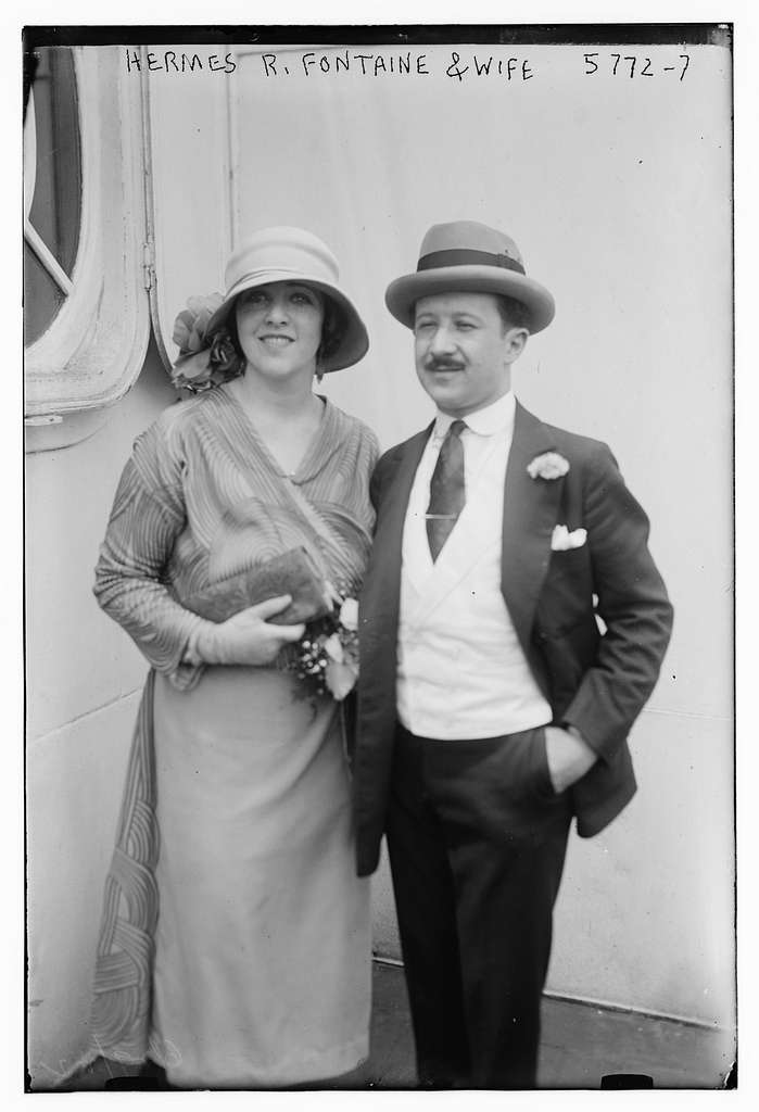Hermes R. Fontaine and wife