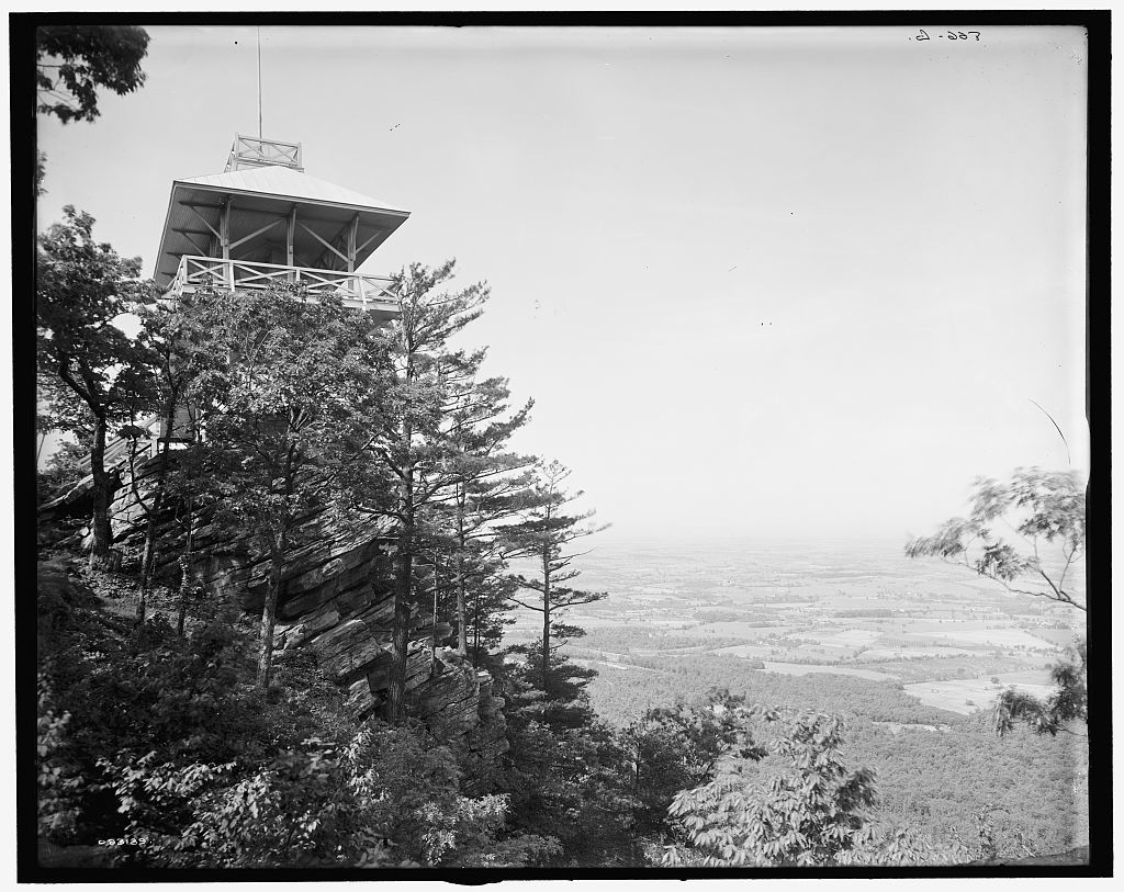[High Rock Observatory, near Pen Mar Park, view looking west, Maryland]