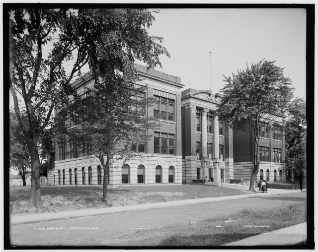 High school, Port Huron, Mich.
