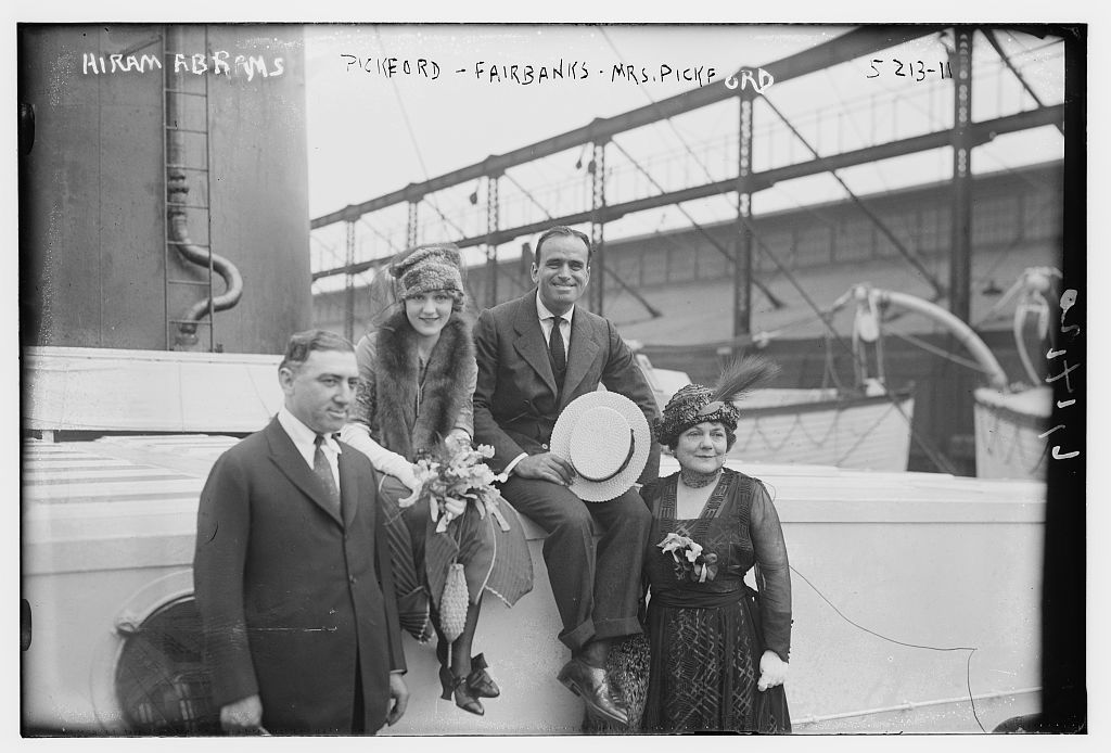 Hiram Abrams, Mary Pickford, Doug Fairbanks, & Mrs. Pickford