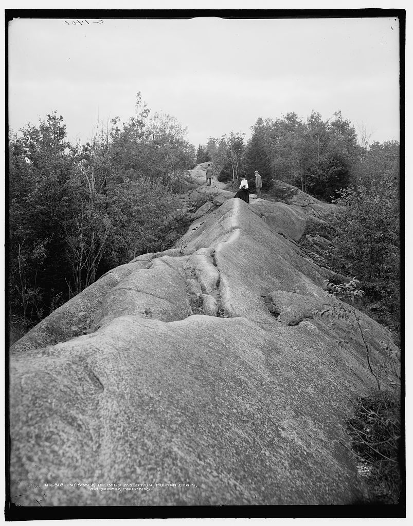 Hogsback up Bald Mountain, Fulton Chain, Adirondack Mountains