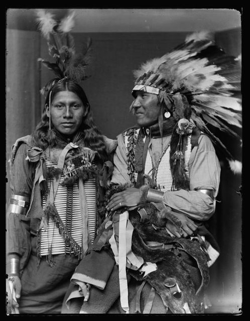 [Holy Frog(?) (left) and Big Turnips(?), American Indians]