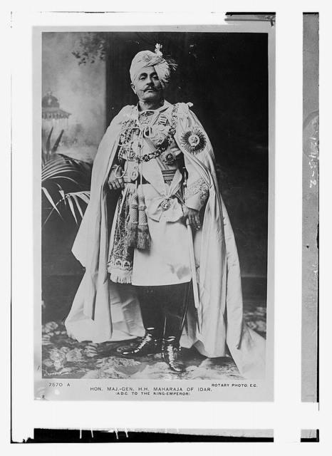 Hon. Maj. Gen. H.H. Maharaja of Idar A.D.C. to the king-emperor