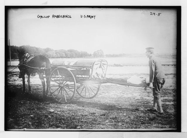 Horse drawn Gallop ambulance, U.S. Army