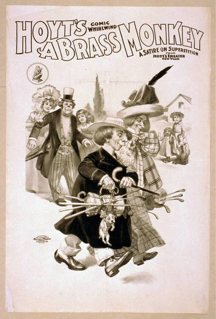 Hoyt's comic whirlwind, A brass monkey a satire on superstition.