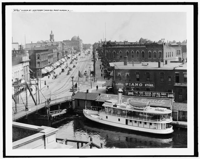 Huron St. [Street] and ferry landing, Port Huron, Mich.