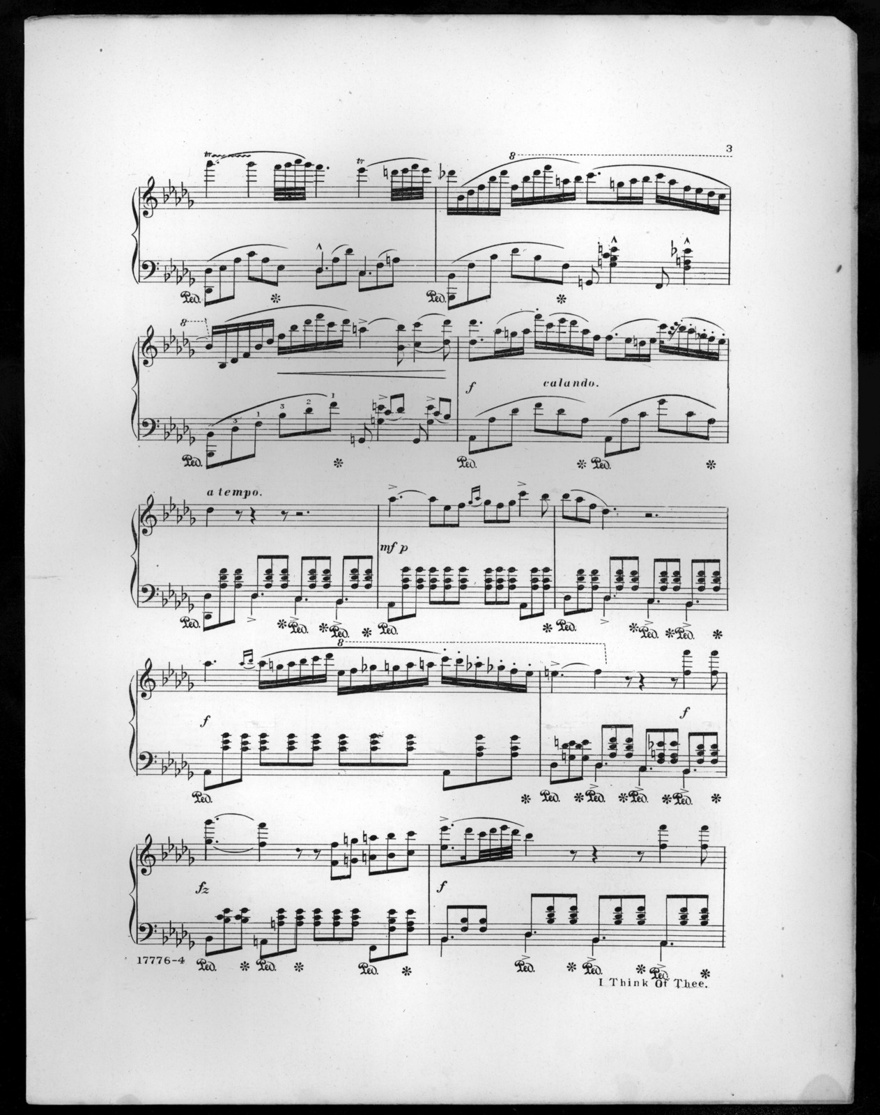 I think of thee, op. 358