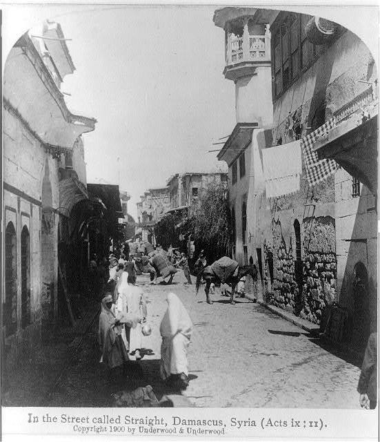 In a street called Straight, Damascus, Syria (Acts ix: II)