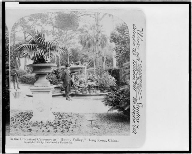 """In the Protestant Cemetery at """"Happy Valley,"""" Hong Kong, China"""