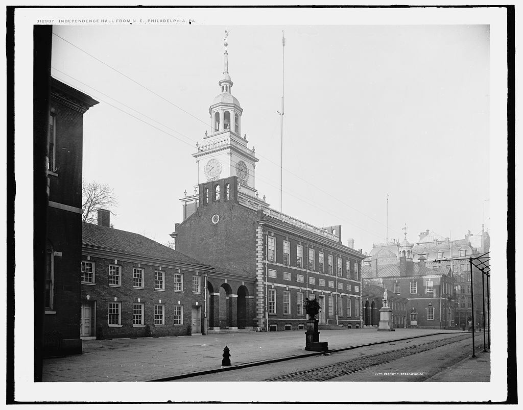 Independence Hall from N.E., Philadelphia, Pa.