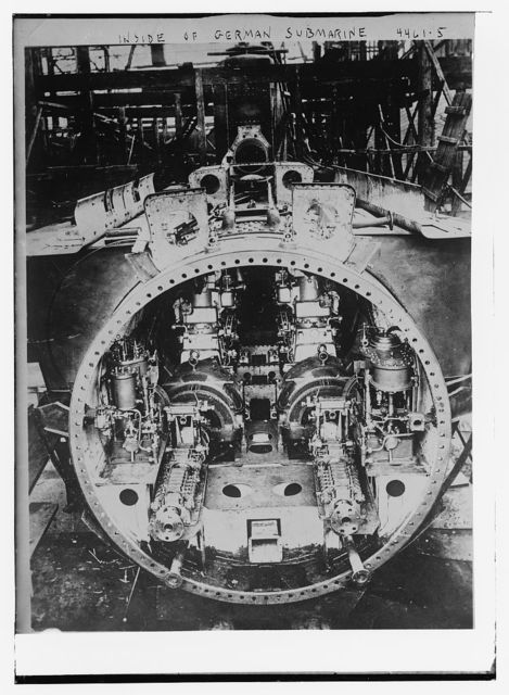 Inside of German Submarine