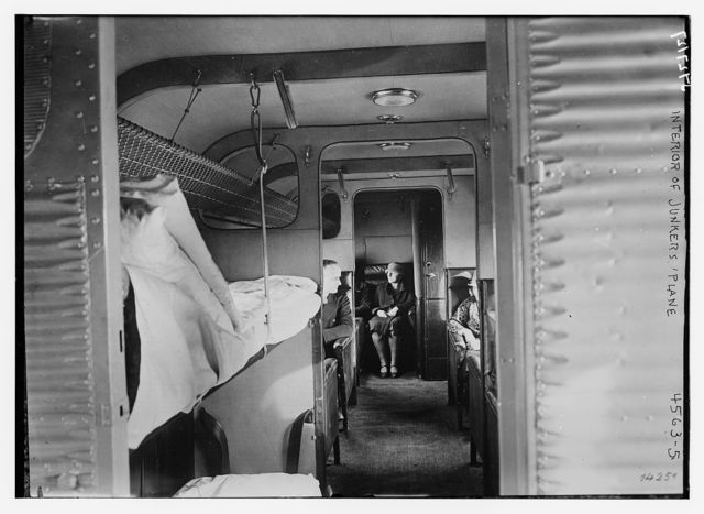 Interior of Junkers 'plane