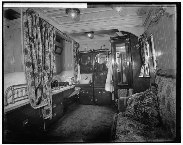 [Interior of S.S. Prinzessin Victoria Luise, a stateroom]