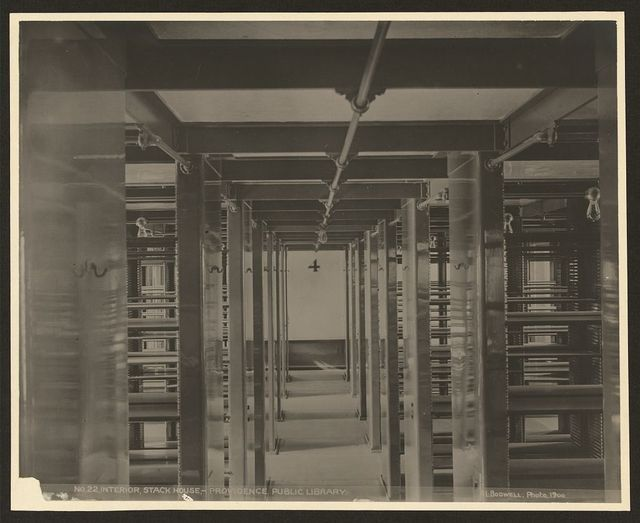 Interior, Stack House-Providence Public Library / L. Bodwell.