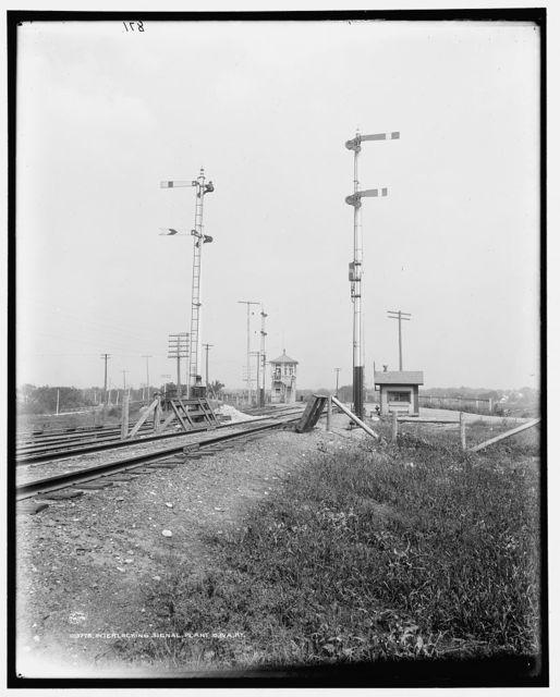 Interlocking signal plant, C.& A. Ry. [i.e. Chicago & Alton Railway]