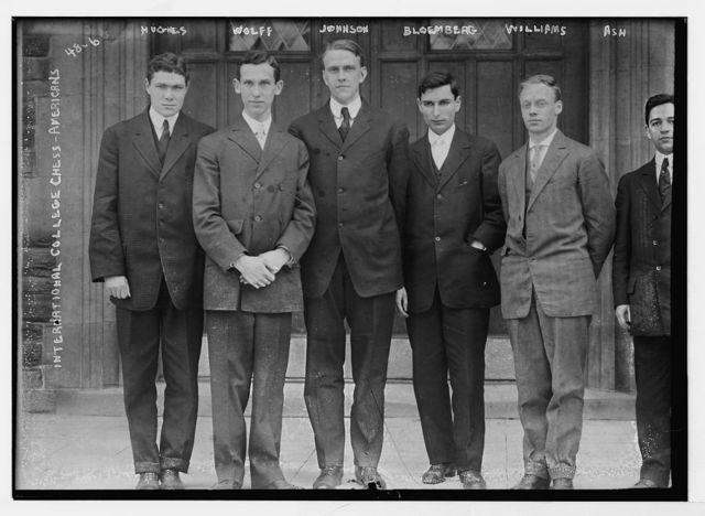 International College Chess - Americans - Hughes, Wolff, Johnson, Bloemberg, Williams, Ash