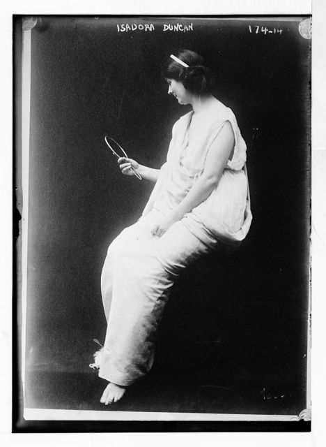 """Isadora, in """"Toga with looking glass"""""""