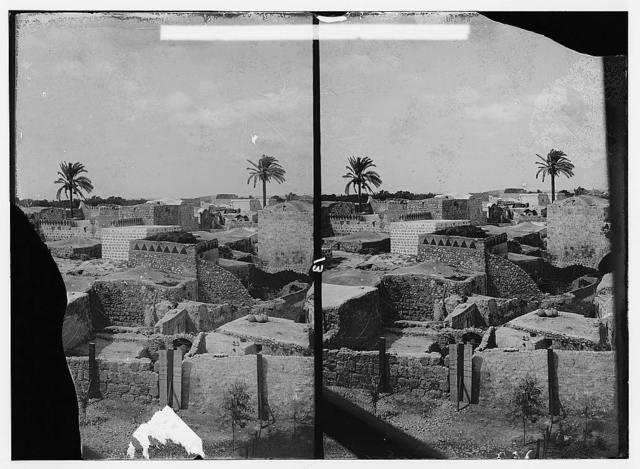 Jaffa to Jerusalem. General view of Lydda (Lod)