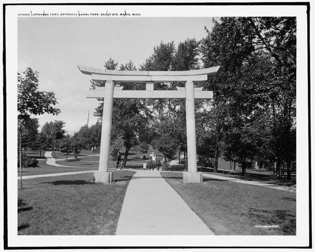 Japanese Torii, entrance canal park, Sault Ste. Marie, Mich.