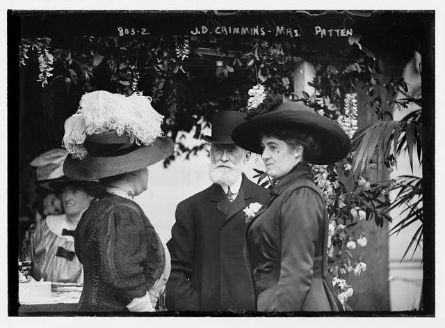 J.D. Crimmins, Mrs. Patten, and unidentified lady, Hope Farm Fair