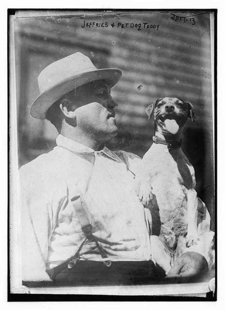 Jeffries & pet dog Teddy