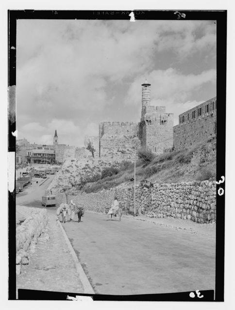 Jerusalem (El-Kouds), approach to the city. Citadel of Zion
