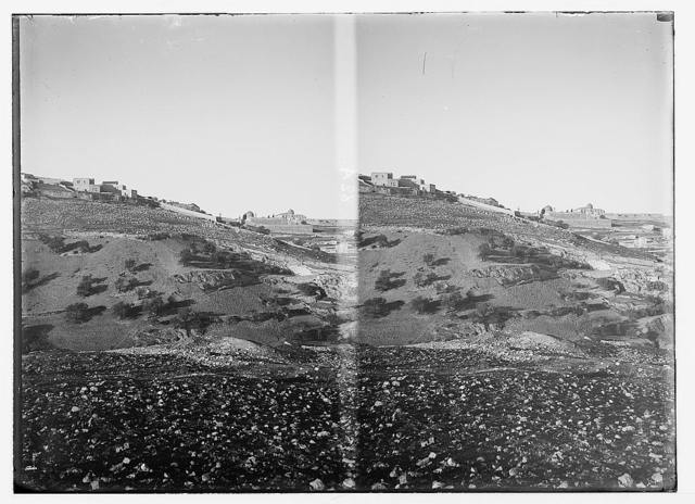 Jerusalem (El-Kouds), approach to the city. Panorama of Western Hill No. 3, eastern slope