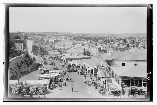 Jerusalem (El-Kouds), approach to the city. Plain of Rephaim from the Jaffa Gate