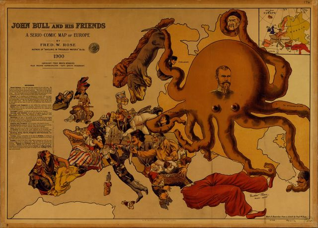 John Bull and his friends : a serio-comic map of Europe /