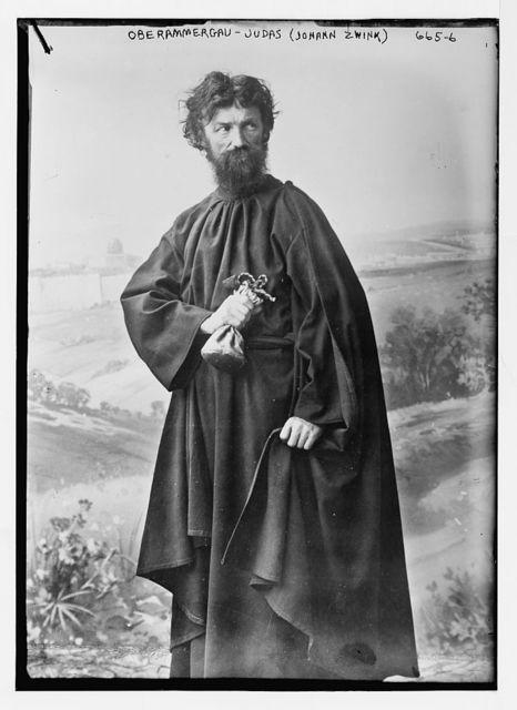 Judas (Johann Zwink) in passion play, Oberammergau, Germany