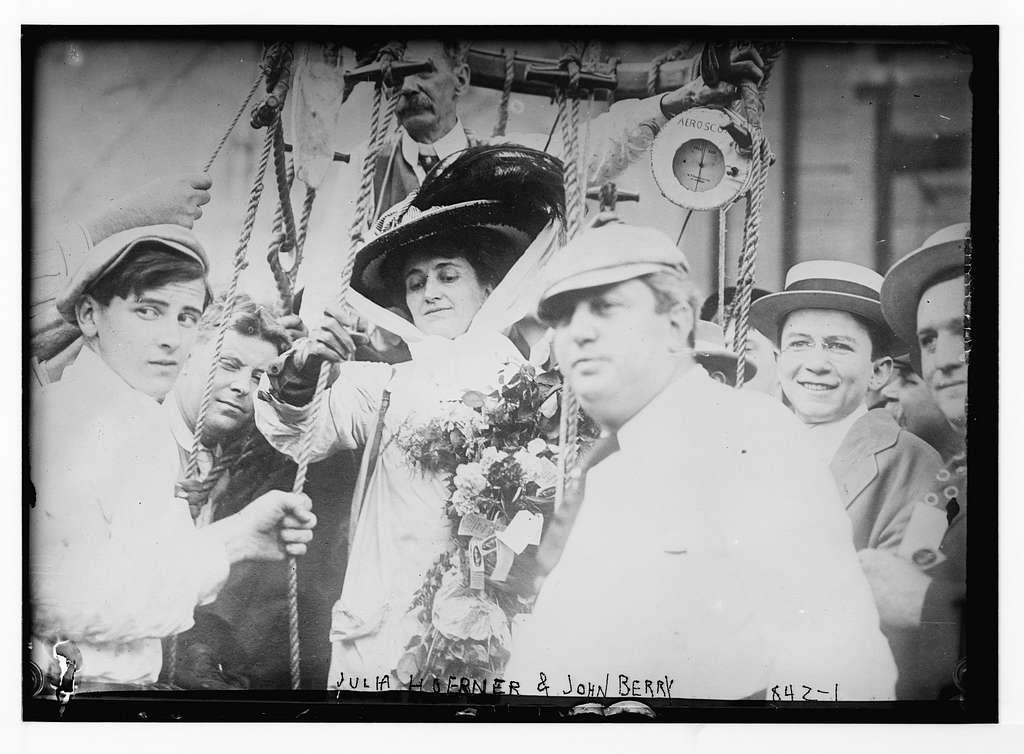 Julia Hoerner and John Berry, aboard ship
