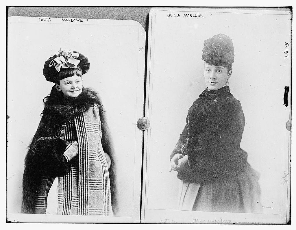 Julia Marlowe: child & young woman
