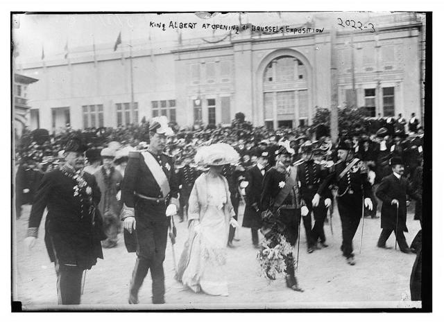 King Albert at opening of Brussels Exposition