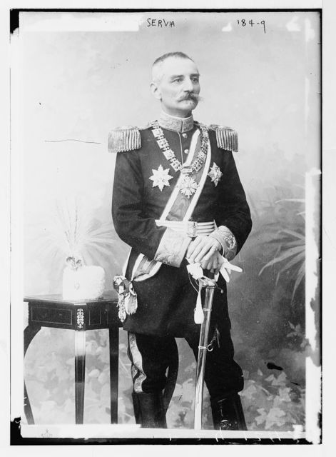 King of Servia, in uniform