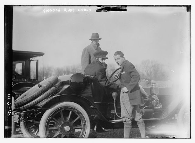 Kingdon and Jay Gould in car