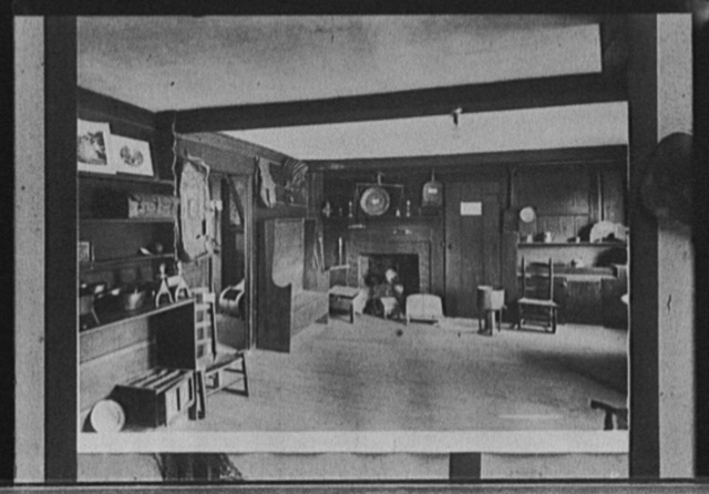 Kitchen and living room, John Hancock House, Lexington, Mass.