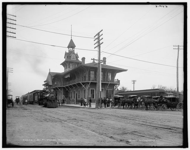 L. & N. Ry. [i.e. Louisville and Nashville Railway] Station, Pensacola, Fla.
