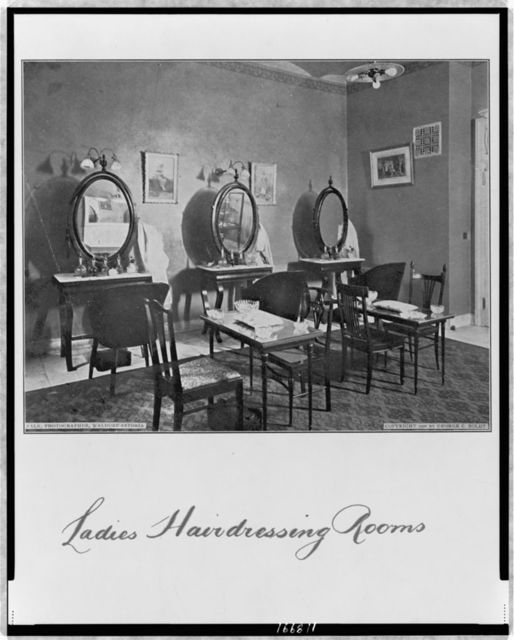 Ladies hairdressing rooms / Falk, photographer, Waldorf-Astoria.